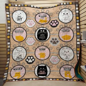 Cat Is The Best Therapist In The World Quilt Blanket Great Customized Gifts For Birthday Christmas Thanksgiving Perfect Gifts For Cat Lover