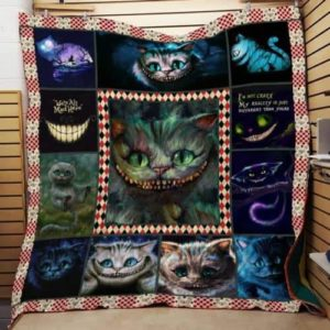 Cheshire Cat Smiling Quilt Blanket Great Customized Gifts For Birthday Christmas Thanksgiving Perfect Gifts For Cat Lover