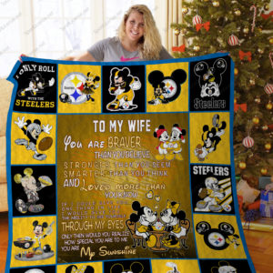 Bl – Pittsburgh Steelers+ Mickey Quilt Blanket