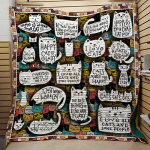 Bc – I Just Want To Be A Cat Quilt Blanket