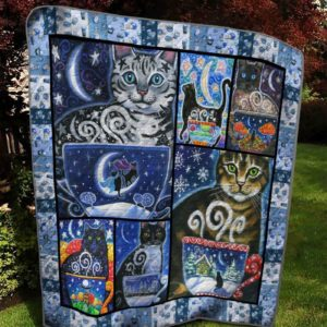 Bc – The Moon Cat Quilt Blanket