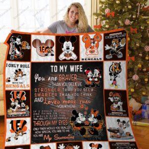 Bl – Cincinnati Bengals To My Wife Quilt Blanket