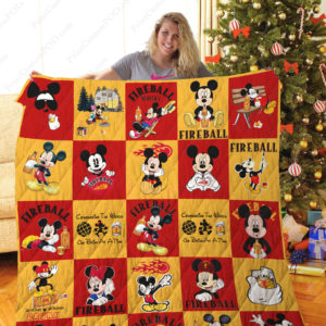 Tlmus –fireball Sangria+Mickey Quilt Blanket