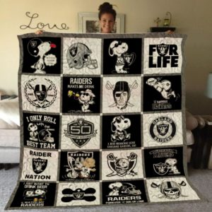 Bc – Las Vegas Raiders+ Snoopy Quilt Blanket