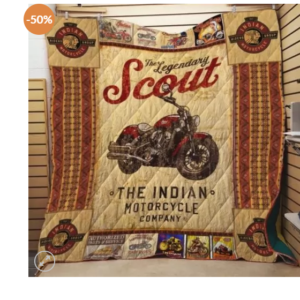 Ll – Indian Motorcycle Quilt Blanket