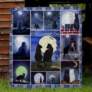 Ll – Black Cat Quilt Blanket Ver 01