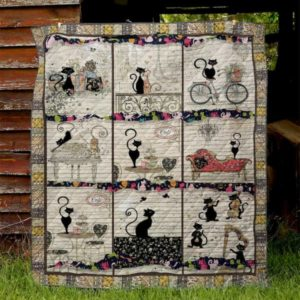 Cat Life Quilt Blanket Great Customized Gifts For Birthday Christmas Thanksgiving Perfect Gifts For Cat Lover