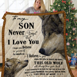 Father And Son – I Love You Quilt Blanket