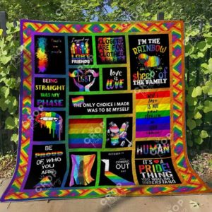 Lgbt Being Straight Was My Phase Quilt Blanket Great Customized Blanket Gifts For Birthday Christmas Thanksgiving