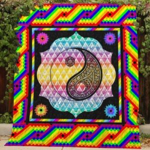 Lgbt Yin And Yang Quilt Blanket Great Customized Blanket Gifts For Birthday Christmas Thanksgiving
