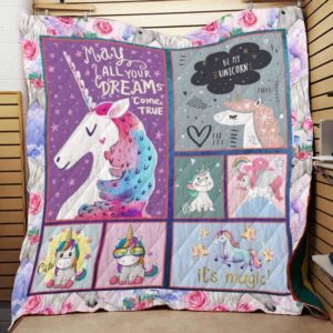 Be My Unicorn Quilt Blanket Great Customized Gifts For Birthday Christmas Thanksgiving Perfect Gifts For Unicorn Lover