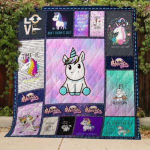 Bc – I Love Unicorn Quilt Blanket