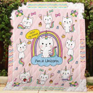 Bc – I'm A Unicorn Quilt Blanket