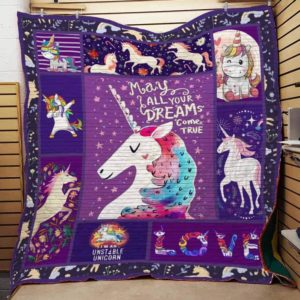 Bc – I'm An Unstable Unicorn Quilt Blanket