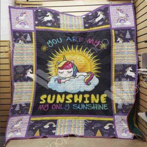 Bc – Unicorn You're My Sunshine Quilt Blanket