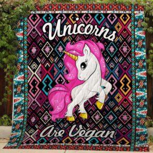 Bc – Unicorns Are Vegan Quilt Blanket