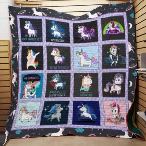 Bc – We Can Do It Unicorn Quilt Blanket