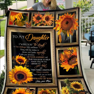 Ll – To My Daughter – Sunflower Quilt Blanket