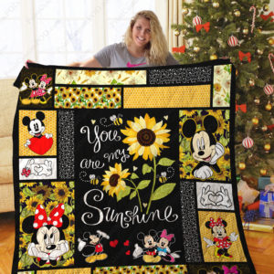Mickey You Are My Sunshine Quilt Blanket
