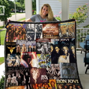 Bon Jovi Albums Cover Poster Quilt Blanket Ver 5