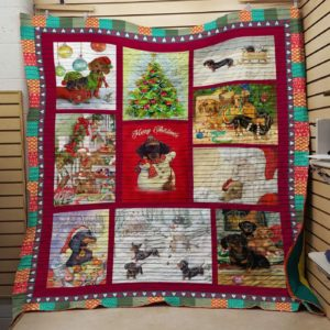 Bc – Mary Christmas Dachshund Quilt Blanket