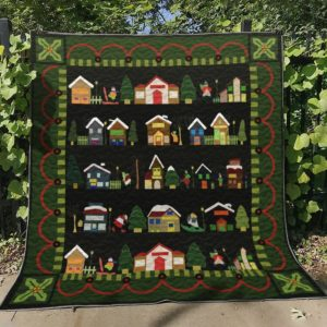 Christmas In Town Quilt Blanket Great Customized Blanket Gifts For Birthday Christmas Thanksgiving