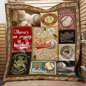 Born To Be Baseball Star Quilt Blanket Great Customized Gifts For Birthday Christmas Thanksgiving Perfect Gifts For Baseball Lover