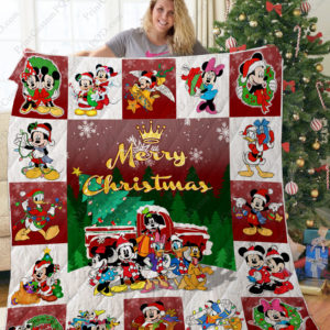Ta –mickey And Friends Christmas Quilt Blanket Ver 1