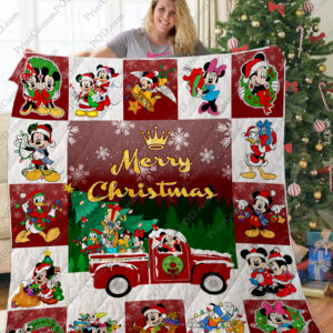 Ta – Mickey And Friends Christmas Quilt Blanket Ver 2