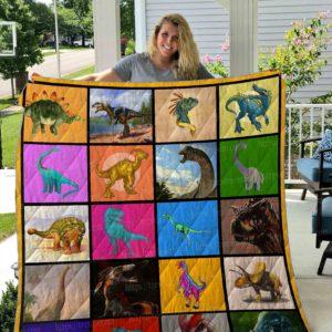 Dinosaur Kinds Quilt Blanket 01