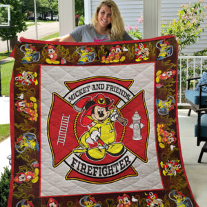 Firefighter Mickey Mouse Quilt Blanket