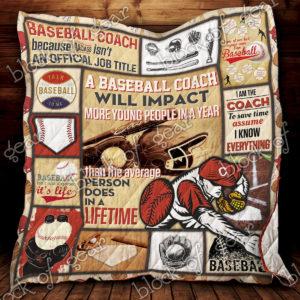 M – Baseball  Quilt Blanket Ver 4