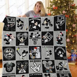 H – Los Angeles Kings+ Mickey Quilt Blanket