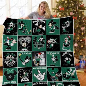 H – Dallas Stars+ Mickey Quilt Blanket