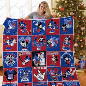 H – New York Rangers+Mickey Quilt Blanket