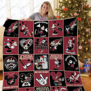 H –arizona Coyotes+ Mickey Mouse Quilt Blanket