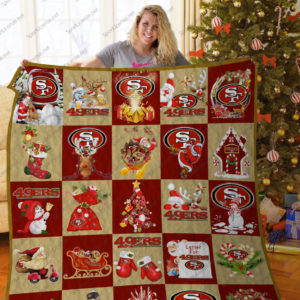 Bl – Sf49ers T Quilt Blanket 02