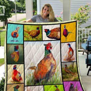 Pheasant Illus Quilt Blanket 01