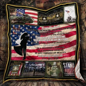 Personalized Us Army To My Husband From Wife I Didn't Fall In Love With You Quilt Blanket Great Customized Gifts For Birthday Christmas Thanksgiving Perfect Gifts For Us Army Lover