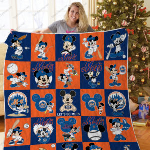 H – New York Mets+Mickey Quilt Blanket
