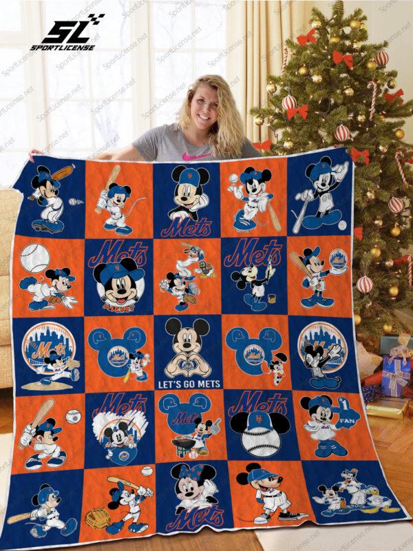 H – New York Mets+Mickey Quilt Blanket