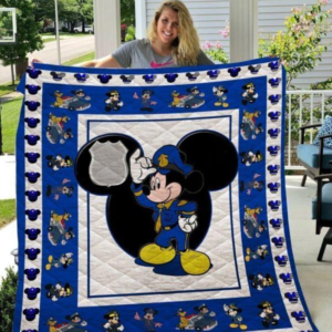 Mickey Mouse Police Quilt Blanket