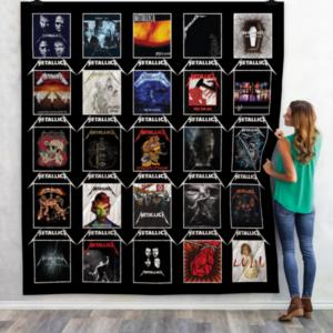 Metallica Albums Quilt Blanket