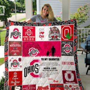 Ohio State Buckeyes – To My Daughter – Love Dad Custom Quilt Blanket 04