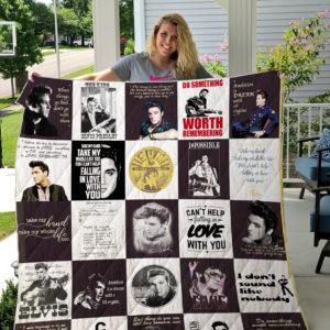 Elvis Presley Quilt Blanket For Fans Ver 26