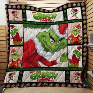Grinch Quilt Blanket For Fans