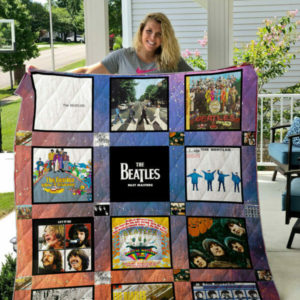 The Beatles Band Albums Quilt Blanket New