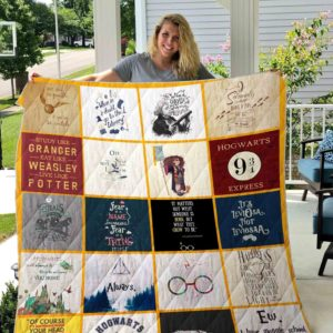 Harry Potter Hogwarts Express Quilt Blanket Great Customized Blanket Gifts For Birthday Christmas Thanksgiving