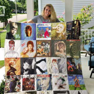 David Bowie Style 3 Quilt Blanket