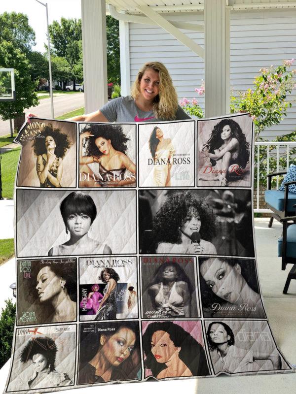 Diana Ross 2 Quilt Blanket